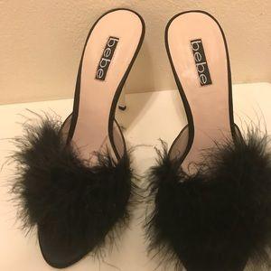 Bebe Feather Heels Size 9
